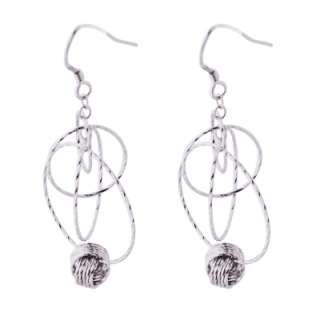 925 Sterling Silver Diamond Cut Drop Earrings