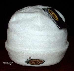 AVERY GREENHEAD GEAR DOUBLE FLEECE SKULL CAP HAT WHITE 700905482221