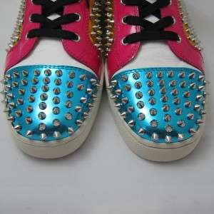 New Christian Louboutin Mens Louis Spike Sneakers Shoes Size 11 / 44 K