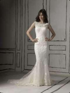 White or Ivory Mermaid Wedding Dress Lace Bridal Dress Custom Wedding