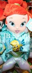 Ariel Little Mermaid Disney Babies Plush Doll with Blanket NWT
