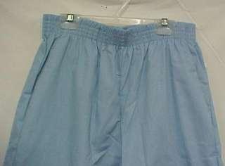 Scrub Pants Light Blue Elastic Waist Scrubs Small New