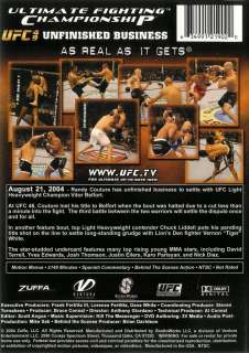 UFC 49   Unfinished Business   Viewed Only Once   DVD 634991219020