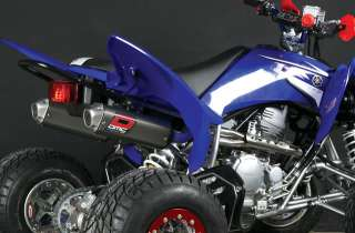 YAMAHA RAPTOR 250 DMC Comp Full DUAL Exhaust pipe System with spark
