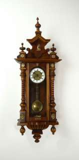 Beautiful Antique German wall clock at 1900