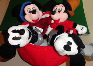 Disney MICKEY MOUSE 70th Anniversary Bean Bag Set MWMT