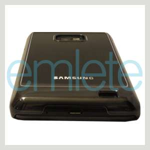 New Black Metal Back Cover Case For AT&T Samsung Galaxy S II 2 i777