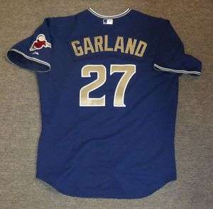 Jon Garland Game Used 2010 San Diego Padres Blue Jersey
