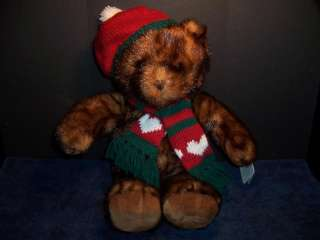 Plush Dillards 2001 Christmas Teddy Bear Collection