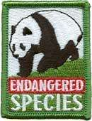 girl boy ENDANGERED SPECIES Patches Crests GUIDE/SCOUT