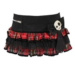 Hell Bunny Minirock BAD GIRL MINI black/red  Bekleidung