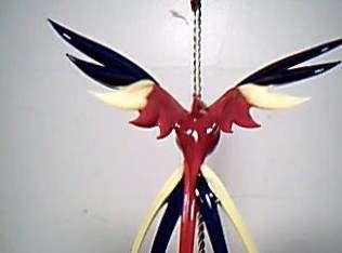 Art Deco German Lauscha Bohemian Glass Parrot w Sticker