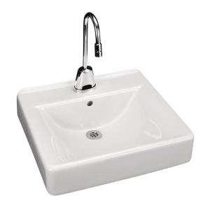 KOHLER Soho Wall Mount Bathroom Sink in White K 2084 0 at The Home