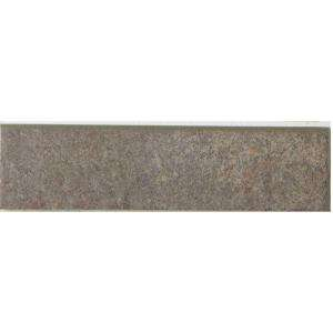 MARAZZI Granite 12 in. x 3 in. Graphite Porcelain Bullnose Floor and