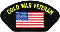 COLD WAR VETERAN MILITARY USA FLAG EMBROIDERED PATCH