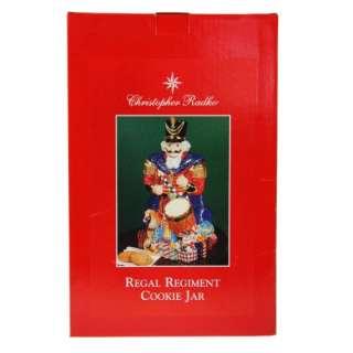 Radko Rare Regal Regiment Ceramic Cookie Jar Glossy Centerpiece