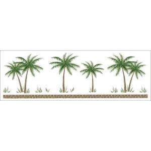 Palm Tree Strip Instant Stencil Wall Applique 83001050 at The Home
