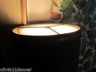Hollywood regency meal lamp able sofa drum shade mid cenury modern