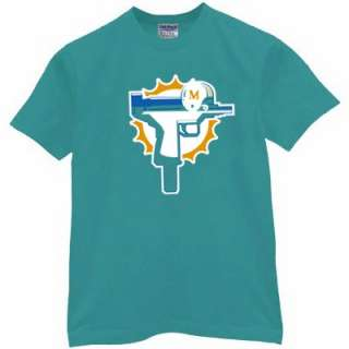 Dolphin Uzi T shirt funny miami jersey vintage henne rude chad pimp