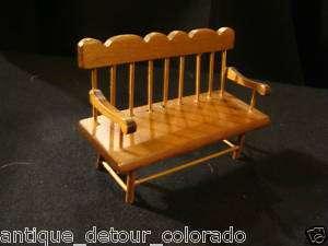 VINTAGE SHACKMAN Miniature Furniture   Deacons Bench