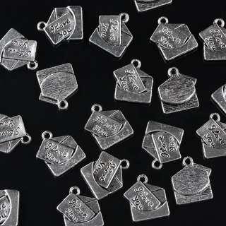F13303*15PCS Tibetan Silver LOVE Letter Pendant Charms