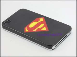 New Black Superman Hard Case Cover for Apple iPhone 4 4G