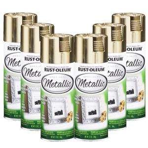 Rust Oleum Specialty Metallic 12 oz. Gloss Gold Spray Paint (6 Pack)