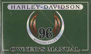 1996 HARLEY DAVIDSON MOTORCYCLE OWNERS MANUAL