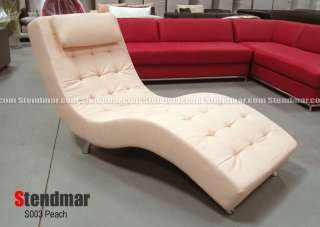 new modern o design leatherette or fabric lounge chaise chair
