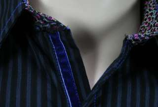 ENGLISH LAUNDRY Scott Weiland mens IRONVILLE blue stripe dress Shirt