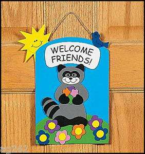 Welcome Friends Door Sign Craft Kit 4 Kids ABCraft