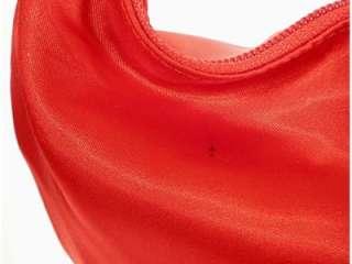 New NWT La Regale RED Satin Handbag Purse Silver Mesh