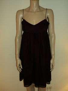Amanda Uprichard Black Fuschia Silk Cocktail Dress M