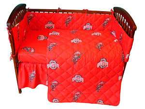 Ohio State Buckeyes 5 piece Baby Crib Set   NCAA