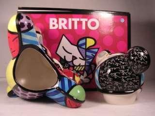 Artist Romero Britto LARGE Hope Bear Cookie Jar Exquisite #22009 NIB