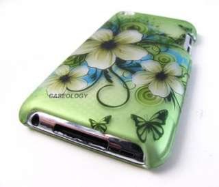 GREEN HAWAII FLOWERS HARD SHELL CASE COVER APPLE IPOD TOUCH 4 4TH GEN