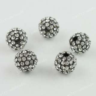 20PCS CLEAR CRYSTAL DISCO BALL SPACER LOOSE BEADS FINDINGS WHOLESALE