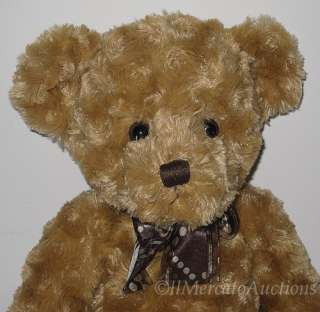 RUSS Berrie ADDISON 16 Plush TEDDY BEAR Toy 34146 Bow
