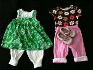 50 USED Girls CLOTHES 12 18 24 MONTH Infant Huge LOT