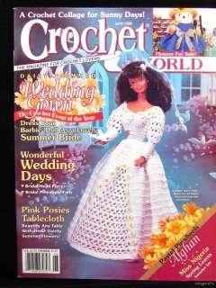 Magazine Patterns Bridal Afghan Barbie Doll Wedding Gown 1998 VTNS