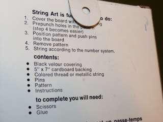 Vtg 1978 KELLYS STRING ART KITS # 202 SAILBOAT Metallic String 5x7