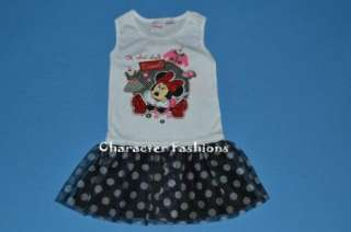 MINNIE MOUSE DRESS OUTFIT Size 18 24 Months 3T 4T 5T Shirt Skirt Girls