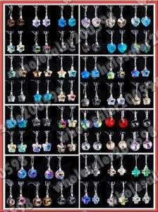 Lots 96Pairs 8styles Focal Crystal Glass Bead Earrings