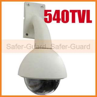 540TVL 1/3 Sony CCD PTZ Outdoor Security Dome Camera 4 9mm RS485 New