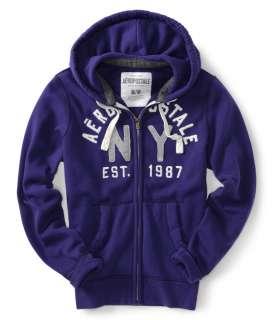 aeropostale mens aero ny87 full zip hoodie