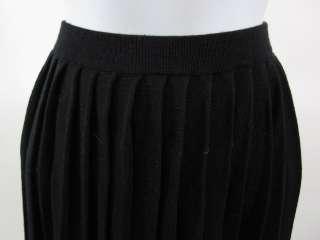 LINDA ALLARD ELLEN TRACY Black Wool Silk Long Skirt L