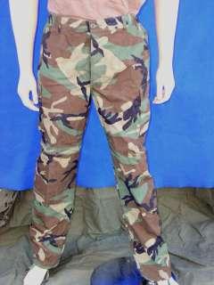 USGI Trousers, Woodland Camouflage Pattern   Woodland BDU Pants   S/L