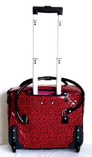 16 Computer/Laptop Briefcase Rolling Wheel Travel Bag Luggage Red