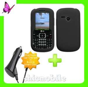Charger + BLACK Gel Case Cover 4 Tracfone NET 10 LG501C