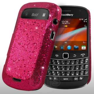 London Magic Store   Hot Pink Sparkle Glitter Case For Blackberry Bold